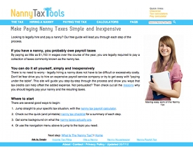 Nanny Tax Tools