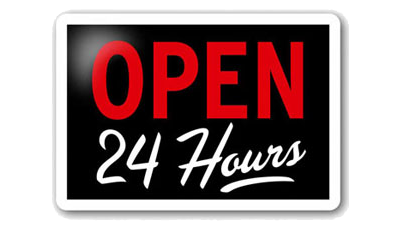 Is your business open 24 hours a day?